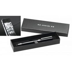 25 Bolígrafos personalizados metálicos de Antonio Miro con puntero